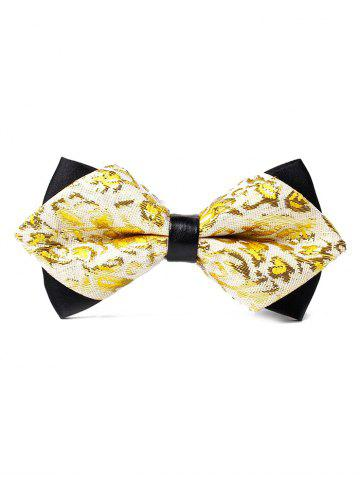 New Floral Pattern Embellished Glitter Shimmer Bow Tie