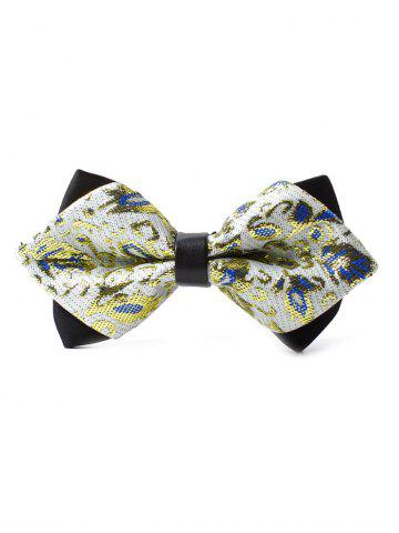 Affordable Floral Pattern Embellished Glitter Shimmer Bow Tie