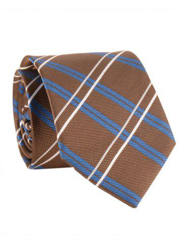 New Checked Pattern Embellished Formal Bueiness Tie
