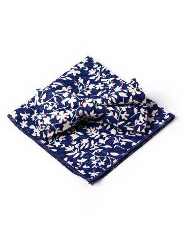 Fashion Floral Petal Pattern Formal Bow Tie and Square Handkerchief