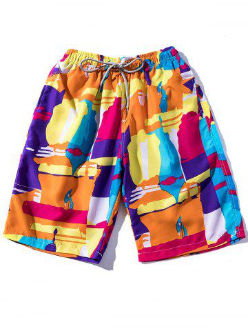 Best Lace Up Colorful Printed Board Shorts