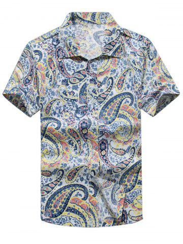 Buy Paisley Print Casual Short Sleeve Shirt