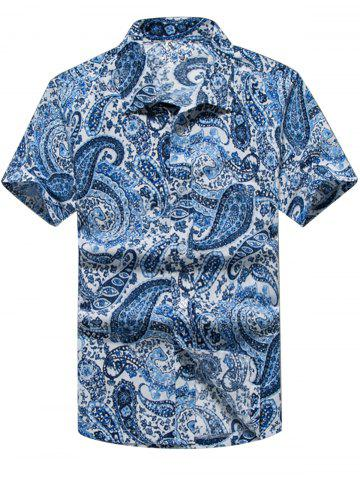 Shops Paisley Print Casual Short Sleeve Shirt