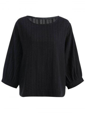 Fancy Long Sleeve Plus Size High Low Top