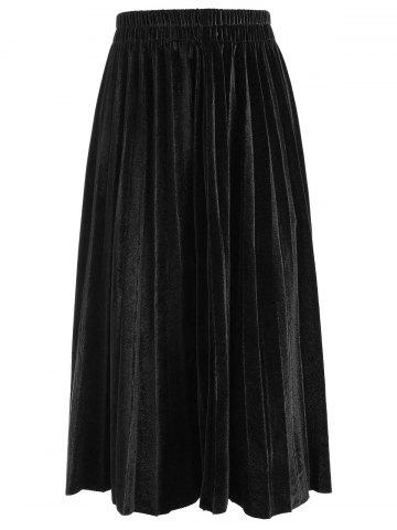 Cheap Plus Size Velvet Waisted Skirt