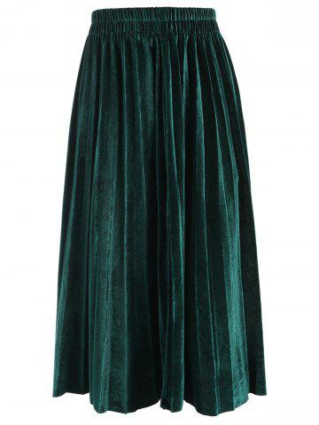 Hot Plus Size Velvet Waisted Skirt