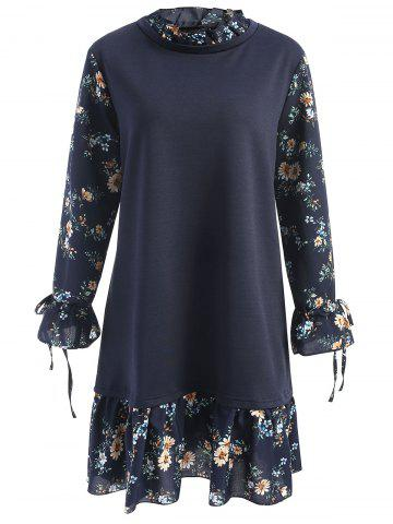 Shop Plus Size Floral Panel Neck Floral Dress