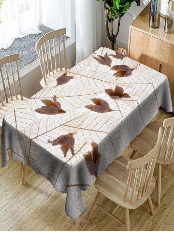 Unique Leaves and Flowers Printed Waterproof Table Cloth