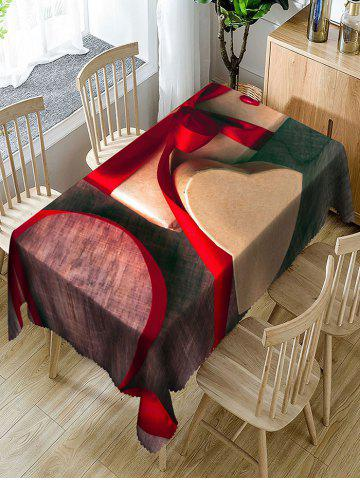 Outfit Valentine's Day Gift Ribbon Print Waterproof Table Cloth