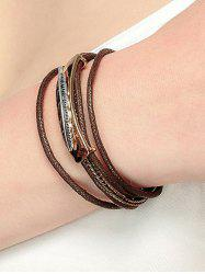Multiple Rope Alloy Feather Bracelet -