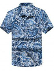 Paisley Print Casual Short Sleeve Shirt -