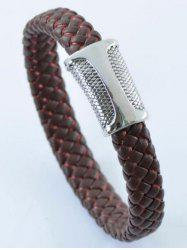 Simple PU Leather Rope Braid Bracelet -