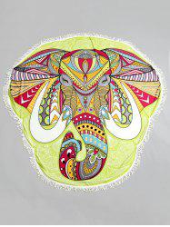 Ethnic Elephant Fringed Beach Throw -