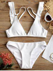 Low Waisted Ruffle Detail Bikini Set -