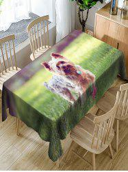 Dog Printed Waterproof Polyester Table Cloth -