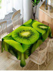 Waterproof Juicy Kiwi Fruit Print Table Cloth -