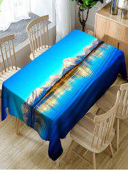 Natural Scenery Waterproof Polyester Table Cloth -