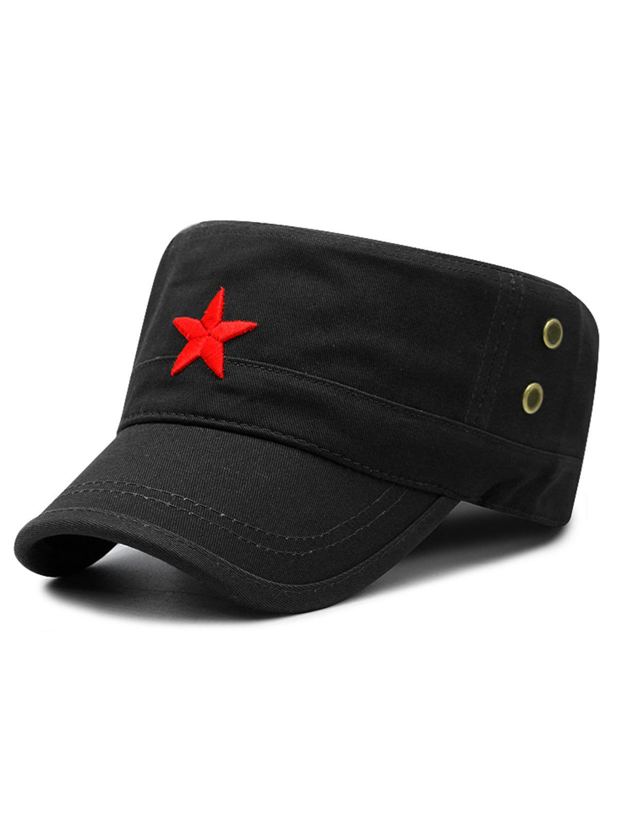 Hot Star Embroidery Adjustable Army Hat