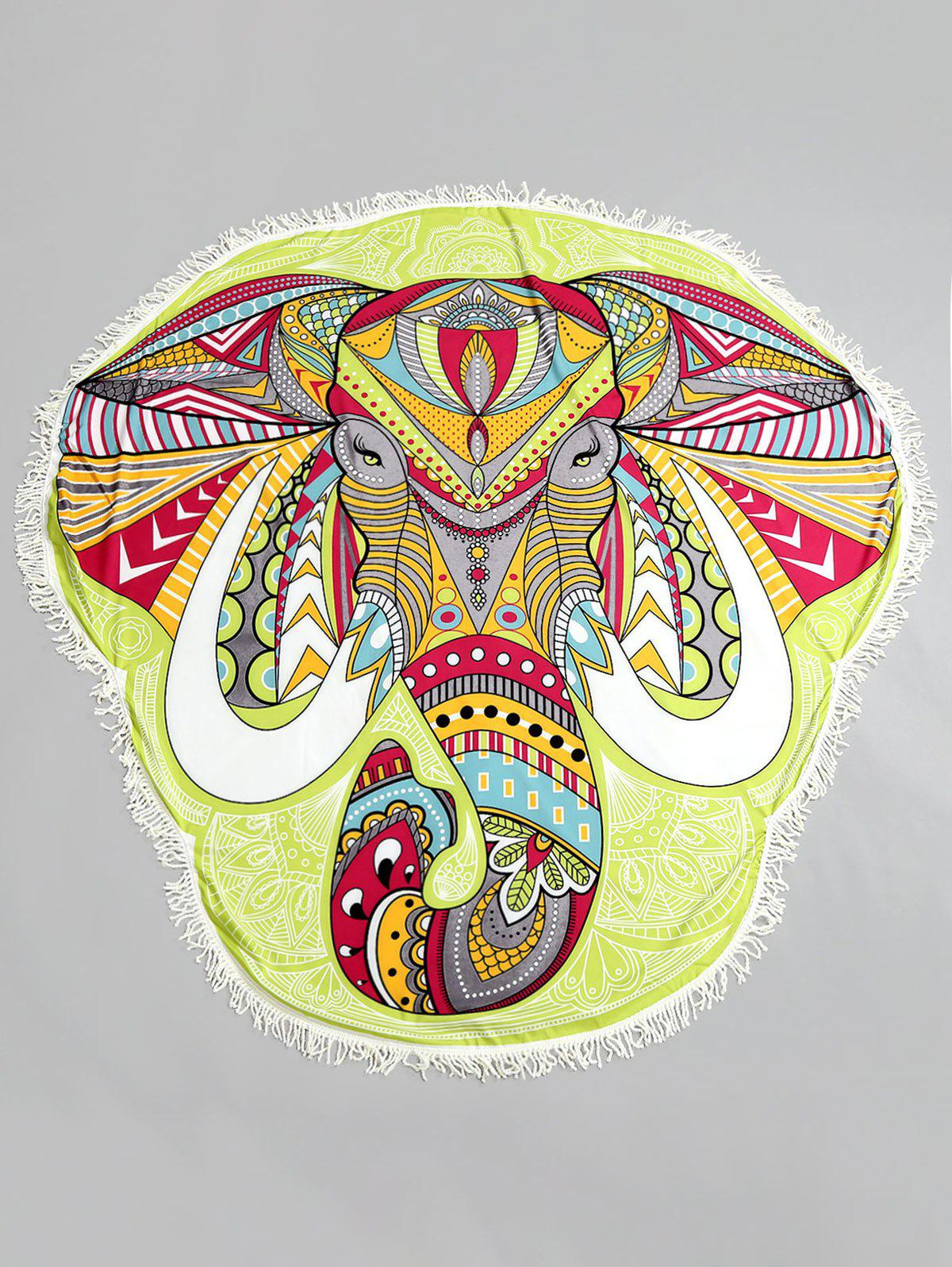 New Ethnic Elephant Fringed Beach Throw