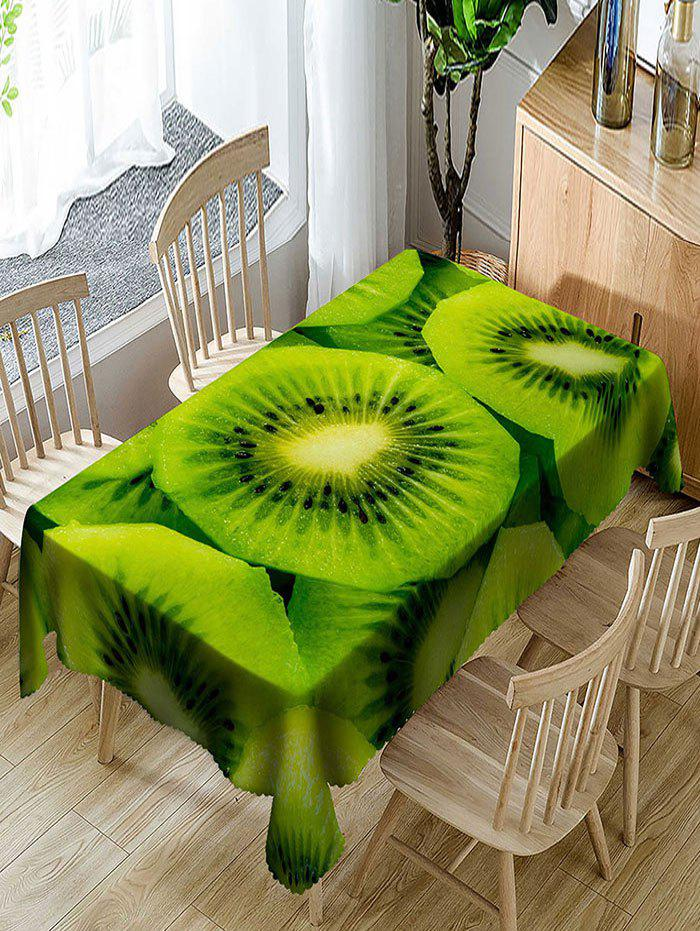 Hot Waterproof Juicy Kiwi Fruit Print Table Cloth
