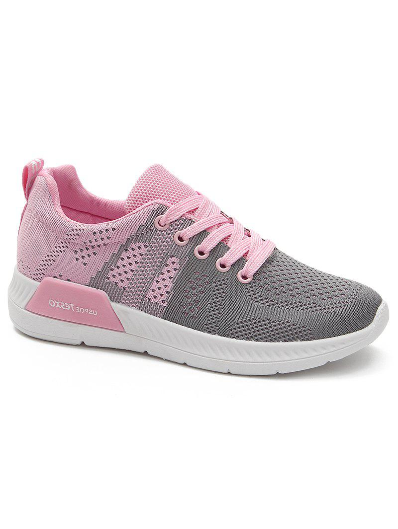 Affordable Athletic Mesh Color Splicing Sneakers