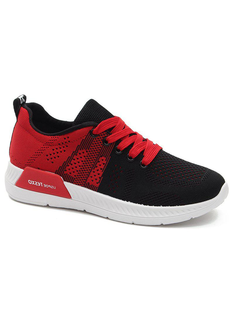 Trendy Athletic Mesh Color Splicing Sneakers