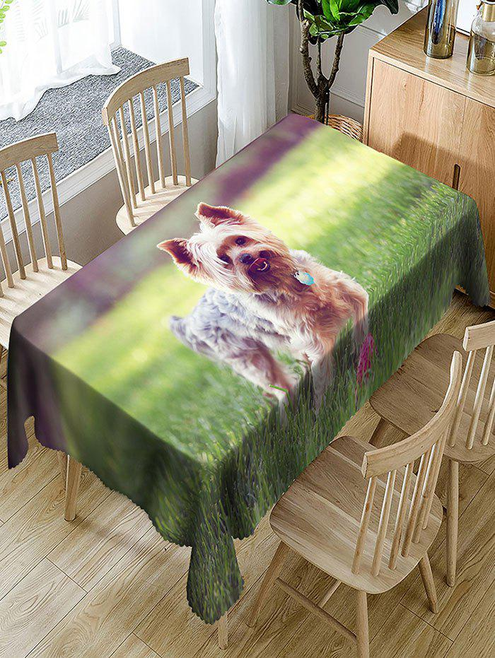 Outfit Dog Printed Waterproof Polyester Table Cloth