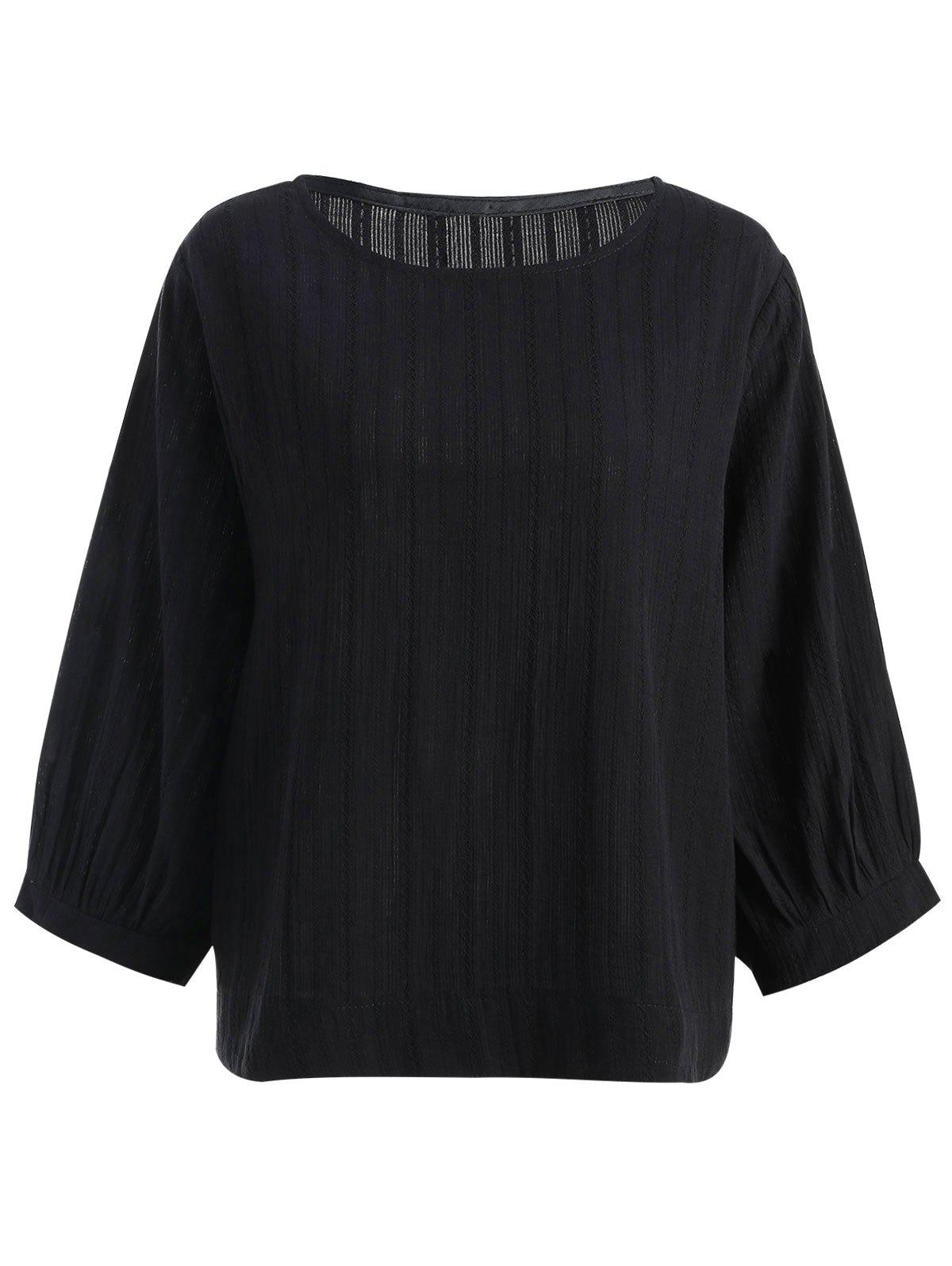 Fashion Long Sleeve Plus Size High Low Top