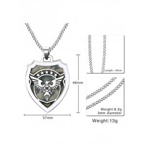 Collier pendentif camouflage mouche Eagle Star Shield -