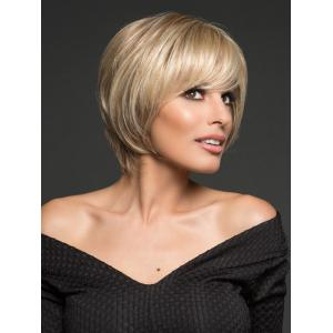 Short Inclined Bang Straight Bob Synthetic Wig -