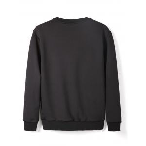 Sweat-shirt imprimé à encolure ras du cou -