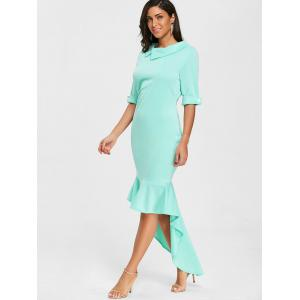 Collared High Low Mermaid Dress -