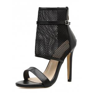Caged Buckle Strap Accent Gladiator Sandals -