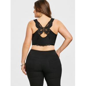 Plus Size Butterfly Appliqued Ribbed Tank Top -
