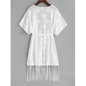 See Thru Fringed Wrap Cover Up -