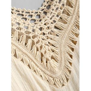 Crochet Panel Beach Cover Up Haut de la page -