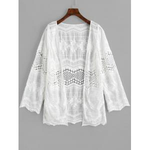 Beach Long Sleeve Embroidered Cover Up -