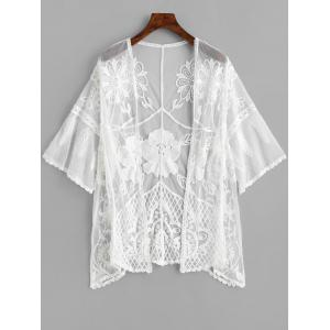 Broderie Mesh Sheer Cover Up -