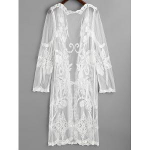 Embroidered Mesh Beach Cover Up -