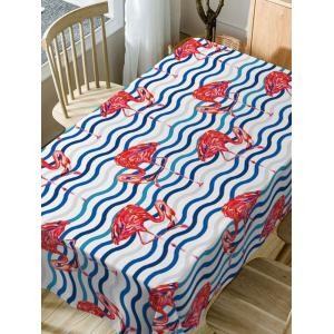 Flamingo Print Waterproof Dining Table Cloth -