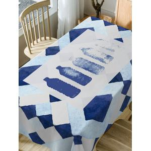 Bottle Print Waterproof Dining Table Cloth -