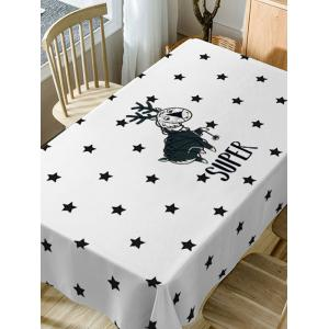 Deer and Stars Print Waterproof Dining Table Cloth -