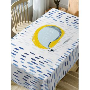 Rain Print Waterproof Table Cloth -