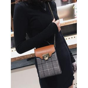 Contrasting Color Chain Sling Bag -