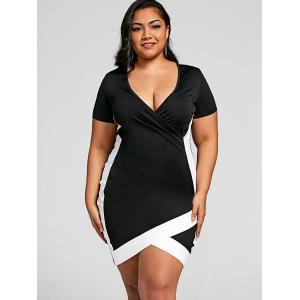 Overlap Plus Size Bodycon Dress -