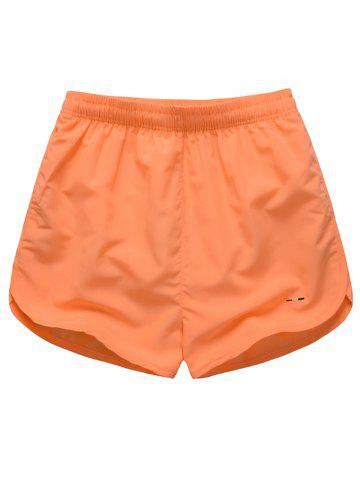Fashion Dolphin Hem Mesh Lined Beach Shorts