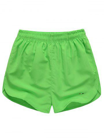Trendy Dolphin Hem Mesh Lined Beach Shorts