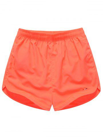 Fancy Dolphin Hem Mesh Lined Beach Shorts