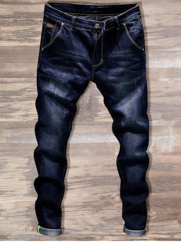 Shops Slim Fit Straight Leg Jeans