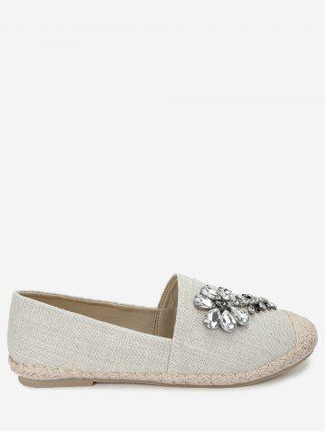 Shops Espadrille Beading Slip On Flats